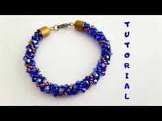 Two-Color Spiral Bracelet Making Refurbished Shot - Armband Ideen Bracelet Making, Jewelry Making, Beaded Necklace, Beaded Bracelets, Beaded Jewelry Designs, Beaded Crafts, Bijoux Diy, Bracelet Tutorial, Brick Stitch