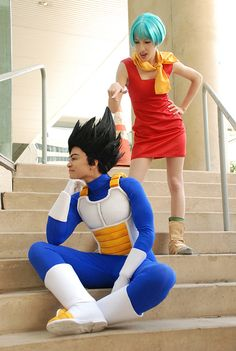 "I really enjoyed this one as well. That Bulma, ACTUALLY looks like Bulma (the woman), and the Vegeta cosplay (The ""dude"") looks super great as well!  Credits: DBZ cosplay - Vegeta and Bulma by TechnoRanma"