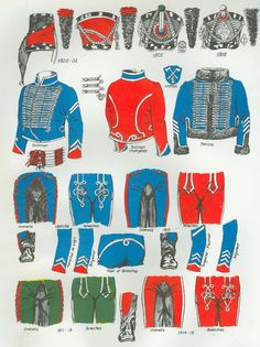 Uniformi del 1 rgt. ussari francesi