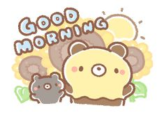 Cartoon Gifs, Cartoon Drawings, Cute Good Morning Gif, Bread Tree, Mood Diary, Night Pictures, Crazy Friends, Line Sticker, Cute Gif