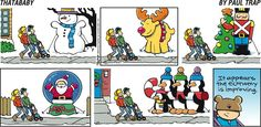 The improving economy. Thatababy on GoComics.com #Decorations #Christmas #Humor #Comics