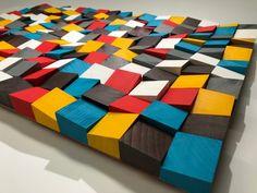 pixel di parete in legno arte mosaico legno parete arte 25 Reclaimed Wood Wall Art, Wooden Wall Art, Diy Wall Art, Wood Mosaic, Mosaic Art, Outdoor Living Furniture, Rustic Wall Shelves, Acoustic Wall, Pallet Wall Art