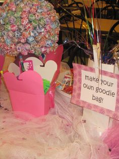 at your next birthday party, let the kids make their own goodie bag........huge hit!