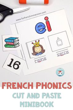 What if your student could work on French phonics and fine motor skills at the same time? Check out this cut and paste minibook to practice French sounds. Learn French Fast, Learn French Beginner, How To Speak French, Learning French For Kids, Ways Of Learning, Teaching French, Kids Learning, French Articles, French Resources