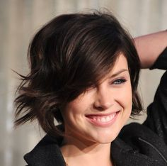 Short style with long bangs