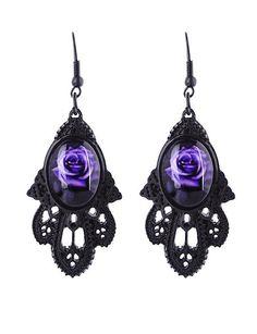 Viktorian Ohrringe Spitzenoptik Earrings Gothic Barock Ornament Steampunk Cameo