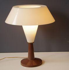 Vintage C.N. Burman Plastic Table Lamp 1964
