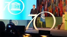 In his speech also stressed the importance of UNESCO in disseminating education, supporting science and the protection of cultural heritage worldwide.