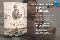 A3 - Movie Poster Print Template 1 by Illusiongraphic on @creativemarket