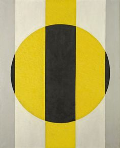Symphony in Gray, Yellow, Black | From a unique collection of abstract paintings at http://www.1stdibs.com/art/paintings/abstract-paintings/