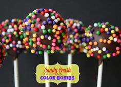 Munchkin Munchies: Candy Crush Brownie Pops Collaboration with Haniela's Brownie Pops, Cookie Pops, Oreo Pops, Candy Crush Party, Candy Crush Saga, Oreo Cake, Cake Cookies, Cupcakes, Salted Caramel Fudge