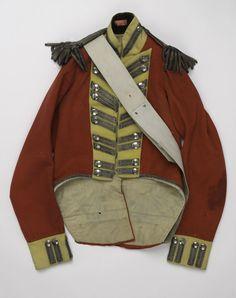 Officer's coatee worn by Lieutenant John Bramwell, 1815 (c) Military Coats, Military Clothing, Military Uniforms, Military Fashion, Military Jacket, British Army Uniform, British Uniforms, Red Coats, Rule Britannia
