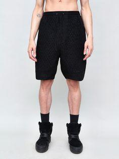 Lam Shorts with Smocking