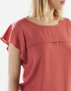 Shirt with sleeve frill detail - CAMISAS - Stradivarius México