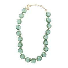 J Crew crystal cupcake necklace #mintgreen