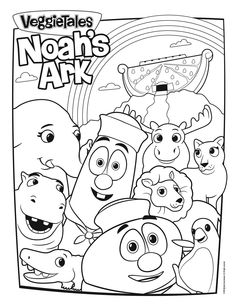veggietales noahs ark coloring page