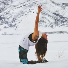 Alissa Kepas in Alo Yoga Space Print