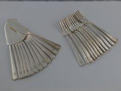 Zestaw sztućów do ryb na 12 osób Art-Deco srebro pr. 800, Franz Bahner Dusseldorf