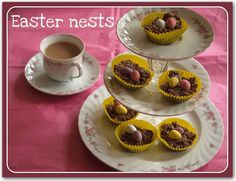 Toddler baking: Easter Nests - Here Come the Girls   Here Come the Girls