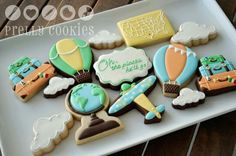 Prelly Cookies:  Travel theme cookies