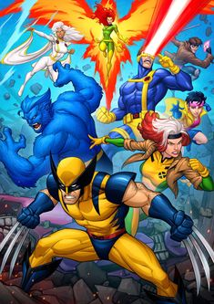 I did this for a good friend of mine at Marvel who helped me out, so I returned the favour with a commission he wanted. He requested an X-Men piece from. X-Men - Animated Series Marvel Girl, Marvel Xmen, Marvel Comics Art, Marvel Heroes, Comic Book Characters, Marvel Characters, Comic Character, Comic Books Art, Comic Art