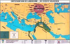 ONTSTAAN VAN DE LANDBOUW ,DE EERSTE VOLKEREN MET STOKKEN | Wandkaarten…
