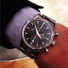 Alpina Watches Alpiner Chronograph ref. AL-750B4E6B with telemeter function. Swiss professional Alpine watch.