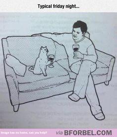 Just A Regular Friday Night At Home…