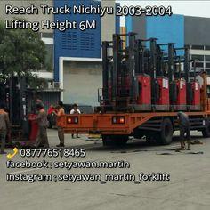[ FOR SALE ] REACH TRUCK NICHIYU 2003-2004, LIFTING HEIGHT 6M,  087776518465, JAKARTA - INDONESIA.