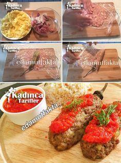 Köfte Mantolu Patlıcan Tarifi Turkish Recipes, Ethnic Recipes, Arabic Food, Homemade Beauty Products, Iftar, Health Fitness, Chicken, Wordpress Theme, Ground Beef Recipes