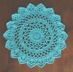 My #Second #Mandala // I absolutely #love this color. This one is #bigger than the other mandala of the same #color and has more #variation in #texture. #crochet #love #crochetaddict #yarnaddict #handmade #handstitched #crochet #candidcrochet #sassycandidcrochet #makersgottamake