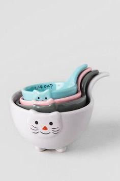 "Tazas medidoras de cerámica ""gatos"""
