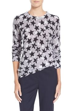 85db018558df Equipment 'Sloane' Star Print Cashmere Sweater available at #Nordstrom  Sweater Shop, Grey