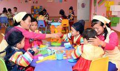 당의 은정속에 솟아난 아이들의 행복의 요람 - 원산육아원, 애육원