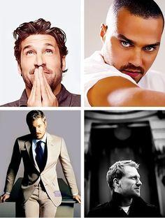 DROOOOOOOOLLLL!!! The men of Grey's Anatomy i love avery! And mark! And owen! And derek to! Haha