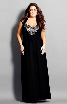 City Chic 'Sweetheart Lace' Gown (Plus Size) available at #Nordstrom