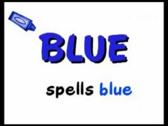 Color B-L-U-E blue song - Kindergarten