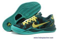 buy online 32d0d 0436d Pas Cher Dark Vert Jaune 555035-022 Nike Zoom Kobe 8 VIII Nike Lebron,