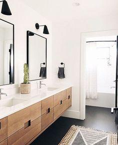 Baños, Badezimmer, Bathroom The Downside Risk of Belgian and Swedish Style Bathroom That No One Modern Master Bathroom, Modern Bathroom Design, Bathroom Interior Design, Small Bathroom, Bath Design, Bathroom Black, Modern Bathroom Cabinets, Modern Bathroom Lighting, Vanity Lighting