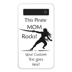 This Pirate Mom Rocks with Your Custom Text Power Bank - fun gifts funny diy customize personal