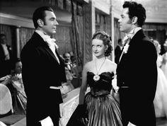 "George Brent, Bette Davis, and Henry Fonda in ""Jezebel"" (1938)"