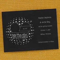 Glimmering Save the Date Card