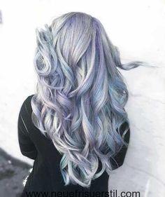 Blau und Lila Lange Haare