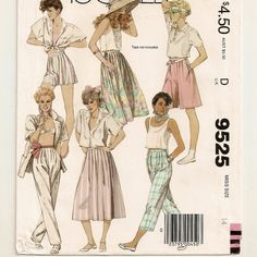 A Softly Pleated, Side Opening Skirt, Culottes, Cropped Pants & Tapered Pants Pattern