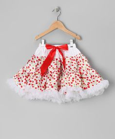 Take a look at this Cherry Polka Dot Bow Pettiskirt - Toddler & Girls on zulily today!