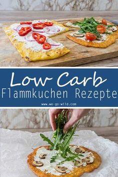 Du suchst nach einem leckeren Flammkuchen? Hier gibt's 3 Teige für Low Carb Rezepte. Also Flammkuchen ohne Kohlenhydrate. Klingt lecker und schmeckt auch unheimlich gut! #lowcarb #flammkuchen #pizza