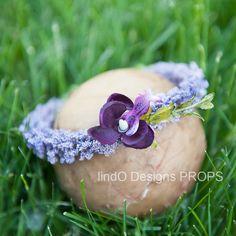 newborn floral crown  photo prop newborn prop