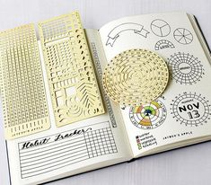 $40.00 Bullet Journal Essential Stencil Set Circle Chart Grid Chart