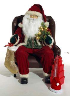Aufblasbarer Weihnachtsmann im Sessel 120x80x70 (H/B/T)