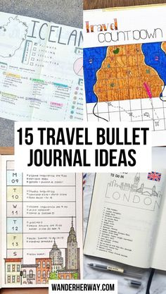 Check out these bullet journal ideas for travel! #bulletjournal #bujo #travel Bullet Journal Ideas, Bullet Journal Travel, Bullet Journal Spread, Bullet Journal Layout, Bujo, Morning Line, Vacation Countdown, Packing Checklist, Life Organization